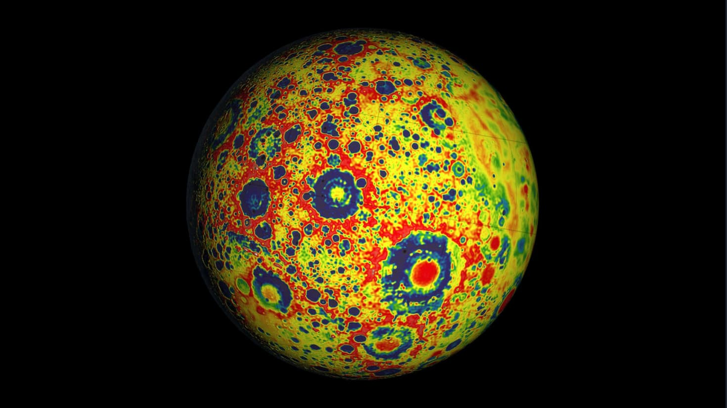 Imaging scan of the surface of the moon